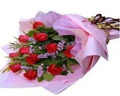 11 adet kirmizi güllerden görsel buket  Adana çiçek yolla çiçek gönderme sitemiz güvenlidir