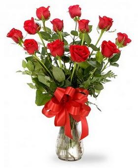 Adana çiçekçiler çiçek , çiçekçi , çiçekçilik  12 adet kırmızı güllerden vazo tanzimi