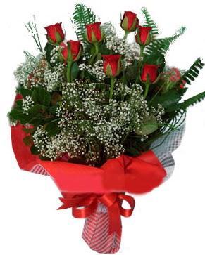 7 kırmızı gül buketi  Adana çiçek servisi , çiçekçi adresleri