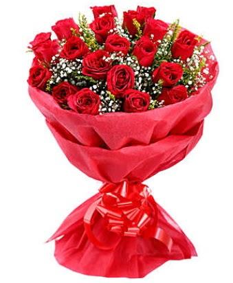 21 adet kırmızı gülden modern buket  Adana çiçek siparişi çiçek gönderme