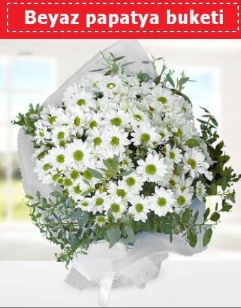 Beyaz Papatya Buketi  Adana 14 şubat sevgililer günü çiçek