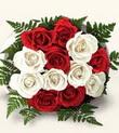 Adana çiçekçiler çiçek , çiçekçi , çiçekçilik  10 adet kirmizi beyaz güller - anneler günü için ideal seçimdir -