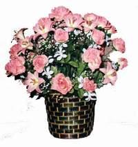 yapay karisik çiçek sepeti  Adana çiçek online çiçek siparişi