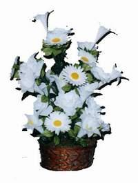 yapay karisik çiçek sepeti  Adana çiçek siparişi vermek