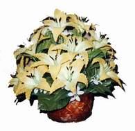 yapay karisik çiçek sepeti   Adana çiçek siparişi sitesi