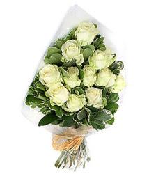 Adana online çiçekçi , çiçek siparişi  12 li beyaz gül buketi.