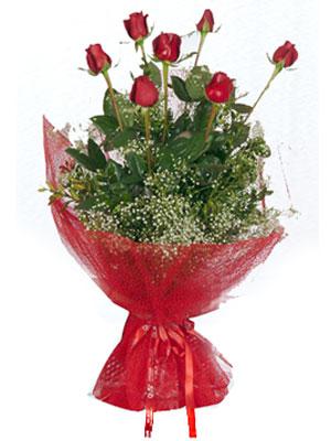 Adana çiçek servisi , çiçekçi adresleri  7 adet gülden buket görsel sik sadelik