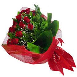 Adana kaliteli taze ve ucuz çiçekler  12 adet kirmizi essiz gül buketi - SEVENE ÖZEL