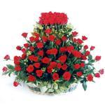 Adana kaliteli taze ve ucuz çiçekler  41 adet kirmizi gülden sepet tanzimi