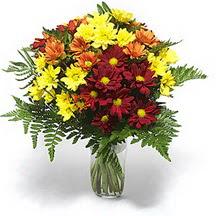 Adana çiçek siparişi sitesi  Karisik çiçeklerden mevsim vazosu