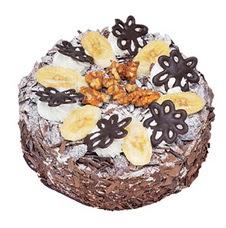 Muzlu çikolatali yas pasta 4 ile 6 kisilik   Adana uluslararası çiçek gönderme
