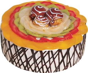 pasta siparisi 4 ile 6 kisilik meyvali yas pasta  Adana ucuz çiçekçi çiçek satışı