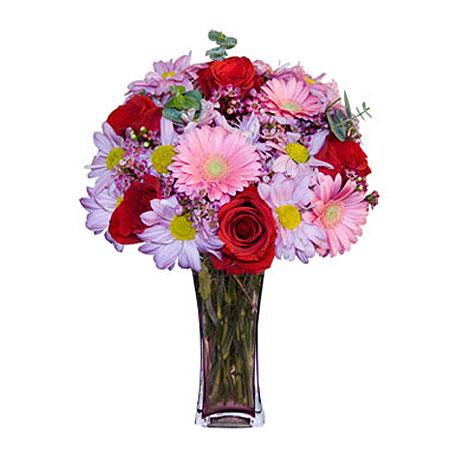 Görsel hediye karisik cam mevsim demeti  Adana çiçekçi mağazası
