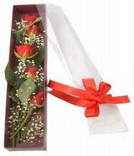 kutu içinde 5 adet kirmizi gül  Adana internetten çiçek siparişi