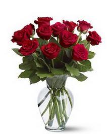 Adana çiçek yolla çiçek gönderme sitemiz güvenlidir  cam yada mika vazoda 10 kirmizi gül