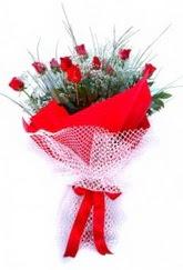 Adana çiçekçi İnternetten çiçek siparişi  9 adet kirmizi gül buketi demeti