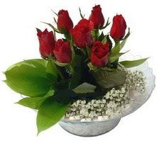 Adana internetten çiçek satışı  cam yada mika içerisinde 5 adet kirmizi gül