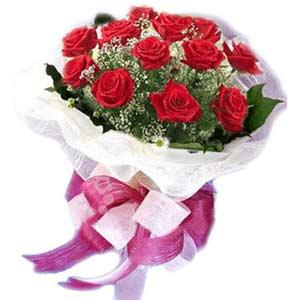 Adana ucuz çiçekçi çiçek satışı  11 adet kırmızı güllerden buket modeli
