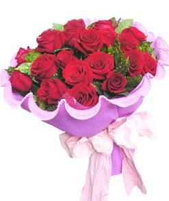 12 adet kırmızı gülden görsel buket  Adana çiçekçi mağazası