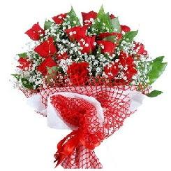 11 kırmızı gülden buket  Adana 14 şubat sevgililer günü çiçek