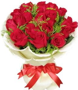 19 adet kırmızı gülden buket tanzimi  Adana çiçek servisi , çiçekçi adresleri