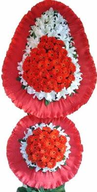 Adana online çiçek gönderme sipariş  Çift katlı kaliteli düğün açılış sepeti