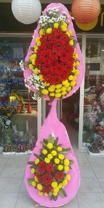 Çift katlı düğün nikah açılış çiçek modeli  Adana çiçekçiler