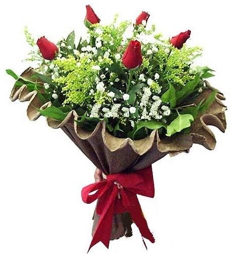 5 adet gülden buket  Adana çiçek yolla çiçek gönderme sitemiz güvenlidir