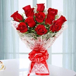 11 adet kırmızı gülden görsel şık buket  Adanaya çiçek ucuz çiçek gönder