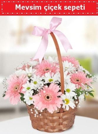 Mevsim kır çiçek sepeti  Adana çiçekçiler çiçek , çiçekçi , çiçekçilik
