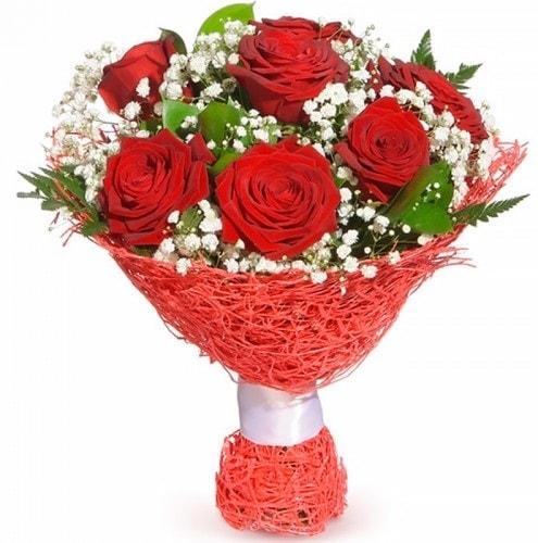 7 adet kırmızı gül buketi  Adana çiçekçiler
